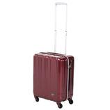 hands+ 軽量スーツケース ジップタイプ 39L ワイン 【メーカー直送品】お届け期間:約7日間~10日間