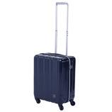 hands+ 軽量スーツケース ジップタイプ 39L ネイビー【メーカー直送品】お届け期間:約1週間~10日間