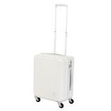 【お買い得】【売切終了】hands+ 軽量スーツケース ジップタイプ 39L ホワイト【メーカー直送品】お届けまで約1週間~10日間
