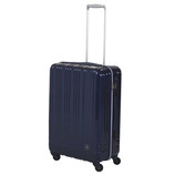 【お買い得】【売切終了】hands+ 軽量スーツケース ジップタイプ 57L ミッドナイトブルー【メーカー直送品】お届け期間:約1週間~10日間