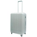 hands+ 軽量スーツケース ジップタイプ 57L シルバー【メーカー直送品】お届け期間:約1週間~10日間