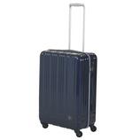 hands+ 軽量スーツケース ジップタイプ 57L ネイビー【メーカー直送品】お届け期間:約1週間~10日間