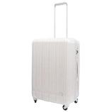 hands+ 軽量スーツケース ジップタイプ 57L ホワイト【メーカー直送品】お届け期間:約1週間~10日間
