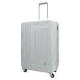 hands+ 軽量スーツケース ジップタイプ 81L シルバー【メーカー直送品】お届け期間:約1週間~10日間