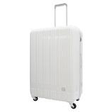hands+ 軽量スーツケース ジップタイプ 81L ホワイト【メーカー直送品】お届け期間:約1週間~10日間