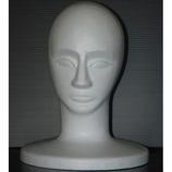 発泡スチロールマネキン 男顔 白