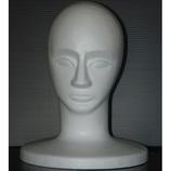 発泡スチロールマネキン 男顔 黒