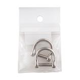 中西 手カン 15mm ニッケル 2個入│レザークラフト用品 皮革用金具
