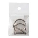 中西 手カン 21mm ニッケル 2個入│レザークラフト用品 皮革用金具