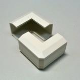 マサル ニューエフモール1号用出角 ミルキーホワイト│配線用品・電気材料 配線用モール