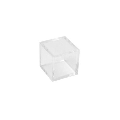 プラスチックキューブ 角 クリア 18mm