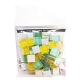 MIKI MOSAIC プチトランスルーセント ガラスモザイクタイル 10mm角 MKG−06 MIX Petite_Mint