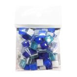 MIKI MOSAIC プチトランスルーセント ガラスモザイクタイル 10mm角 MKG−11 MIX Lagoon