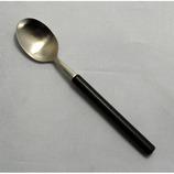 うさみ食器 18-8ステンレス エデン コーヒースプーン 黒