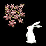 ほつま高蒔絵 風物詩 兎と桜 536