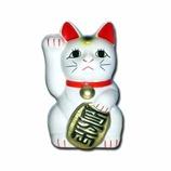 招き猫 右手 白 3号