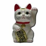 招き猫 左手 白 5号