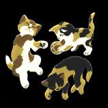 ほつま高蒔絵 動物 子猫 424