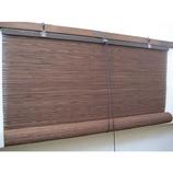 <東急ハンズ> 自然素材ロールアップ式ブラインド。見え難いメッシュタイプです。 上松 オイルバンブーロールDB283画像