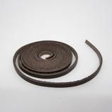 牛ティーボレース 焦茶 4mm巾 150cm1.6厚│レザークラフト用品 革ひも