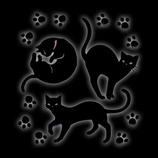 ほつま高蒔絵 動物 黒ネコ足跡 611