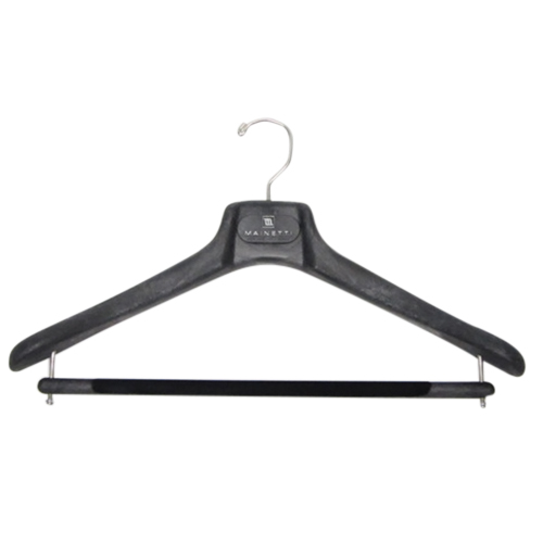 マイネッティ サルトリアーレハンガー 43cm ブラック│ハンガー・衣類収納 樹脂製ハンガー