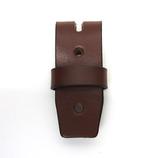 三井 牛革クローム 3cm幅ベルト用ベロ革(サル革付き) チョコ