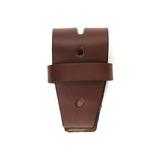 三井 牛革クローム 4cm幅ベルト用ベロ革(サル革付き) チョコ