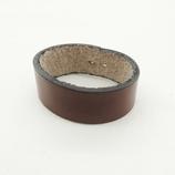 三井 牛革 3.5cm幅ベルト用サル革 チョコ