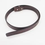 牛革ロウ引き加工 3cm幅ベルト用オビ 2142 チョコ