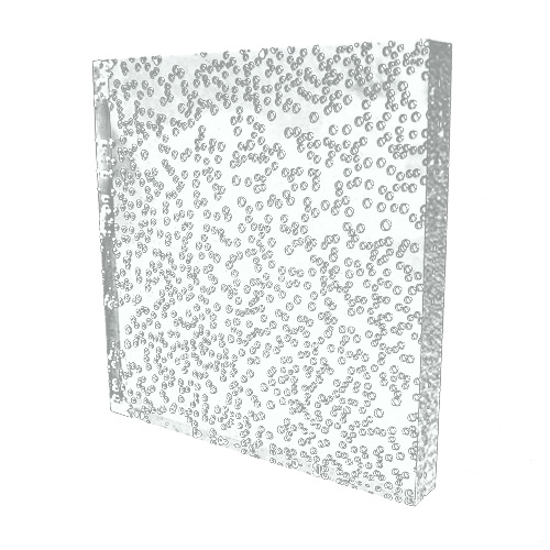 シャンパンプレート 角 クリア 10×10×1.1cm