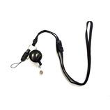 コスモ 安全具付き携帯ストラップ(カードリール付き) 黒