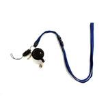 コスモ 安全具付き携帯ストラップ(カードリール付き) 紺│名札・カードホルダー ネックストラップ・リールクリップ