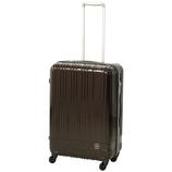 hands+ 軽量スーツケース ジップタイプ 57L チョコ【メーカー直送品】お届けまで約1週間~10日間