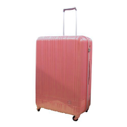 hands+ 軽量スーツケース ジップタイプ 81L ピンク【メーカー直送品】お届けまで約1週間~10日間