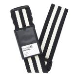 hands+ PANTONE スーツケースベルト ストライプ ブラック