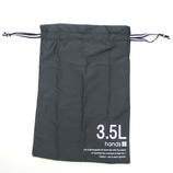 hands+ トラベル巾着 3.5L ブラック