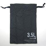 hands+ トラベル巾着 3.5L ネイビードット