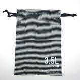 hands+ トラベル巾着 3.5L ネイビーボーダー
