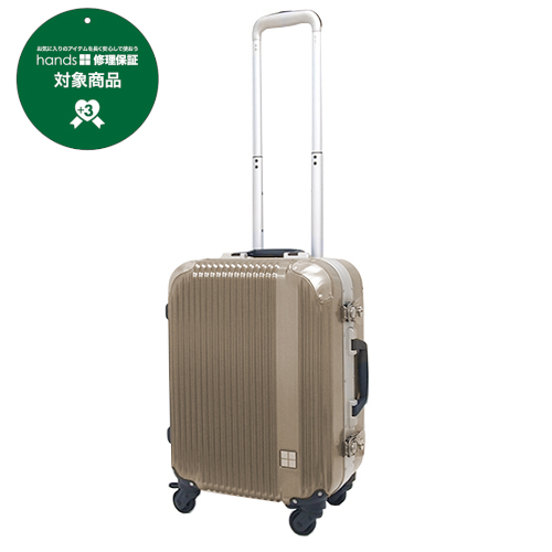 hands+ スーツケース レディエント フレームタイプ 37L シャンパンゴールド【メーカー直送品】お届けまで約1週間~10日間
