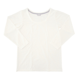 hands+ tabigi トラベルTシャツ8分袖 レディースM ホワイト