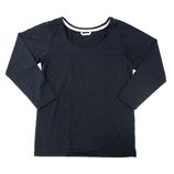 hands+ tabigi トラベルTシャツ8分袖 レディースM ブラック