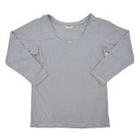 hands+ tabigi トラベルTシャツ8分袖 レディースM ブラック×ホワイト