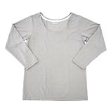 hands+ tabigi トラベルTシャツ8分袖 レディースL グレー