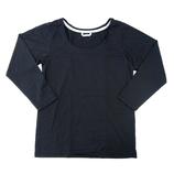 hands+ tabigi トラベルTシャツ8分袖 レディースL ブラック
