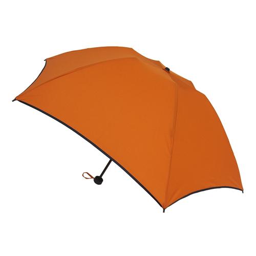 hands+ 15 新簡単開閉折りたたみ傘 50cm スモークオレンジ