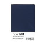 hands+ ボックスシーツ ダブル ネイビー