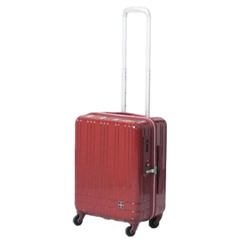 hands+ ライトスーツケース ジップタイプ 39L  レッド【メーカー直送品】お届け期間:約1週間~10日間