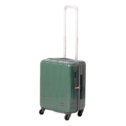 hands+ ライトスーツケース ジップタイプ 39L  グリーン【メーカー直送品】お届け期間:約7日間~10日間
