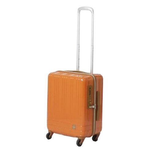 hands+ ライトスーツケース ジップタイプ 39L  オレンジ【メーカー直送品】お届け期間:約1週間~10日間